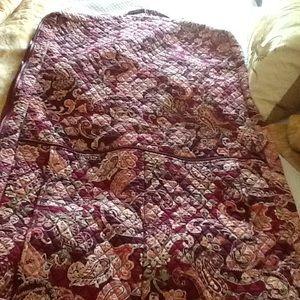 Vera Bradley quilted garment bag